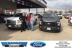 Happy Anniversary to Shannon on your #Ford #F-150 from Justin Bowers at Waxahachie Ford!  https://deliverymaxx.com/DealerReviews.aspx?DealerCode=E749  #Anniversary #WaxahachieFord