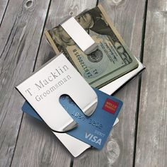 Personalized Silver Polished Money Clip