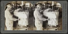Combed silk as it appears when coming from the dressing machine. Silk industry (spun silk), South Manchester, Conn., U.S.A, by Keystone View Company. (1914), The New York Library Digital Collection