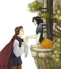 Snow White and her Prince by *Dralamy on deviantART
