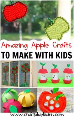 Kids will enjoy their afternoon during Autumn season with these adorable and child-friendly Apple Crafts. These crafts will help them develop their fine motor skills and recognizing colors and shapes too. Pin this fantastic craft today! #autumnactivities #applecrafts #kidscraft #easycrafts #preschoolcrafts #fallcraftsforkids Fall Crafts For Kids, Craft Projects For Kids, Holiday Crafts, Creative Crafts, Easy Crafts, Arts And Crafts, Paper Crafts, Autumn Activities, Fine Motor Skills
