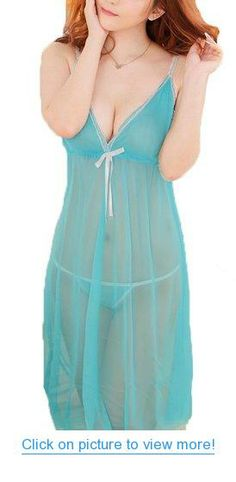 ROSEMANDY Sexy Lace 2 Colors See-through Long Dress Lingerie Set Sleepwear