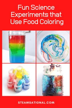 Is there anything more fun than colorful science experiments for kids? We don't think so! That's why we do so many science experiments with food coloring! Science Projects For Kids, Easy Science Experiments, Stem Projects, Science Kits, Science For Kids, Coloring For Kids, Food Coloring, Science Activities, Pumpkin Patches