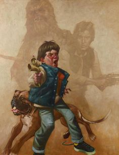 Kids Playing Star Wars by Craig Davison Seriously, major, awesome reminder of childhood. Star Wars Kids, Star Wars Art, Star Wars Painting, Superhero Kids, Fantasy Paintings, Fantasy Art, Art Series, Star Wars Characters, Cultura Pop