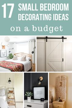 Looking for small bedroom decorating ideas? There's a little bit of everything in this round up - small bedroom storage ideas, small bedroom furniture finds, and small bedroom decorating ideas on a budget. Hopefully you find something to inspire your next bedroom project!! #bedroom #bedrooms #homedecor #home #decor