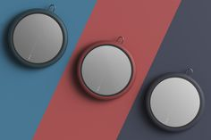 Mirror_fogless on Behance Presentation Board Design, Product Presentation, Basic Colors, Colours, Color Plan, Circle Design, Industrial Design, Layout Design, Cool Designs