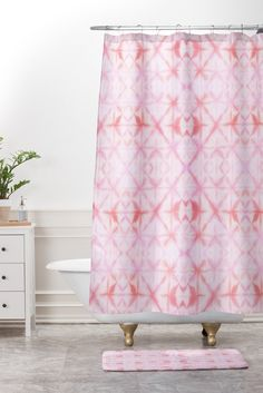 Buy Shower Curtain And Mat with Agadir Antique Rose designed by Amy Sia. One of many amazing home décor accessories items available at Deny Designs. Agadir, Bohemian Shower Curtain, Classic Showers, Bathroom Shower Curtains, Master Bathroom, Thing 1, Bohemian Decor, Boho, Home Decor Accessories