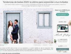 Tendencias de bodas 2020. Nuestro primer artículo en Zankyou Weddings