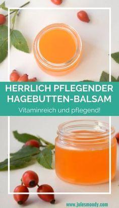 Herrlich pflegender selbstgemachter Hagebutten-Handbalsam, ideal für Herbst und Winter! #diycosmetics #selbstgemacht #grünekosmetik