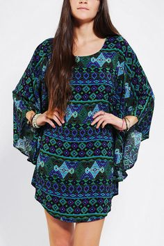 Urban Outfitters - Urban Renewal Poncho Dress #dress