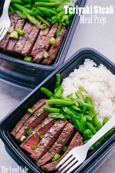 Healthy Meals Quick and easy, this Teriyaki Steak Meal Prep will keep you on track all week long. This is the perfect meal prep for anyone who is on the go and still wants to maintain a good healthy meal program. Good Healthy Recipes, Lunch Recipes, Diet Recipes, Healthy Snacks, Recipes Dinner, Meal Prep Recipes, Family Recipes, Easy Meal Prep, Healthy Meal Prep