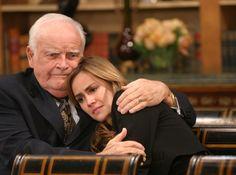 Edward comforting his granddaughter Emily (Natalia Livingston).