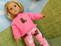 18 doll clothes Pajama's for 18 American Girl doll by SewCuteJune