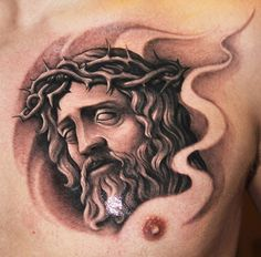 A beautiful, religiously themed tattoo by Riccardo Cassese #InkedMagazine…