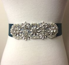RoseyBloomBoutique - Teal Sash
