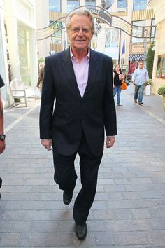 Jerry Springer - actually met him in London on a street corner! So random and bizarre! Nice man though.