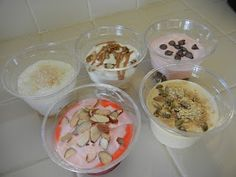 Breakfast Parfaits:  High protein post weight loss surgery friendly...MOM!!!