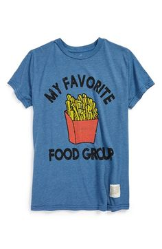 Boy's Retro Brand 'French Fries' Graphic T-Shirt