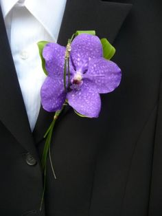 Vanda Orchid Buttonholes but in white