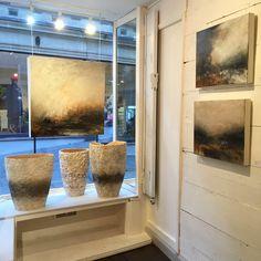 Dion Salvador Lloyd paintings Sarah Purvey Ceramic Vessels 'Hallowed Ground' exhibition with David Simon Contemporary in Bath Nov-Dec 2015