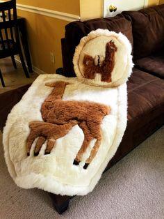Alpaca rug & throw pillow set, Super Soft! 100% real fur floor rug - Handmade Llama fur home decor pillow and rug from Ecuador by Givemethellama on Etsy