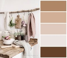 Soft and inviting Hex Color Palette, Paint Color Palettes, Paint Color Schemes, Design Palette, Wabi Sabi, Colours That Go Together, Color Plan, Color Balance, Color Blending