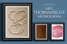 MFC Thornwright Monogram by Monogram Fonts Co. on @creativemarket