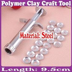 Polymer Clay Fimo Extruder Craft Gun Sculpey Kuvanveisto sugarcraft Tool 19 levyt