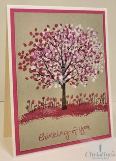 Stampin' Up! cards using Stampin' Up's Sheltering Tree stamp set; Christine's Stamping Spot