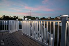 With our plug-and-play LED rail lighting system, there's no need for cutting & splicing. Splitters & harnesses connect with LED accessories easily. Outdoor Stair Railing, Front Porch Railings, Deck Railings, Vinyl Railing, Stair Lighting, Railing Design, Outdoor Living, Outdoor Decor, White Vinyl