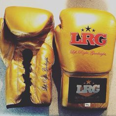 Gold boxing gloves limited edition 2014