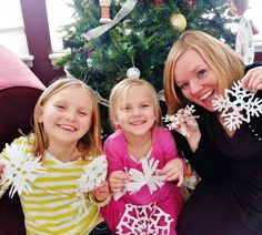 See our recycled cupcake paper snowflakes