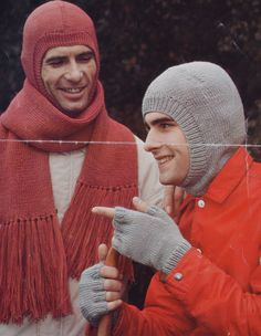 Classic knitting sample males's balaclava scarf fingerless gloves pdf INSTANT obtain sample solely pdf Knitted Balaclava, Knitted Poncho, Knitting Patterns, Crochet Patterns, Dystopian Fashion, Knitting Humor, Fingerless Mittens, Vintage Knitting, Double Knitting