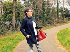 Dr Martens Siano and striped trousers Dr. Martens, Trousers, Style, Trouser Pants, Swag, Pants, Outfits