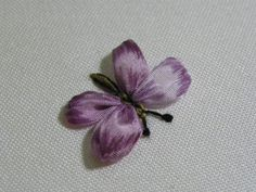 Wonderful Ribbon Embroidery Flowers by Hand Ideas. Enchanting Ribbon Embroidery Flowers by Hand Ideas. Ribbon Embroidery Tutorial, Butterfly Embroidery, Hand Embroidery Stitches, Silk Ribbon Embroidery, Embroidery Applique, Cross Stitch Embroidery, Embroidery Designs, Embroidery Supplies, Machine Embroidery