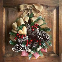 Купить Рождественский  венок  Трепетное ожидание. диам 36 см - венок, интерьерное украшение