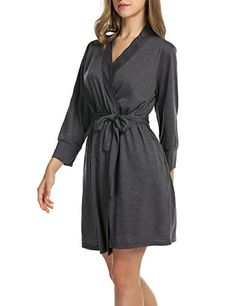 e7ddc03964 HOTOUCH Kimono Robe   Bath Robes for Women Gray L Hotouch https   www