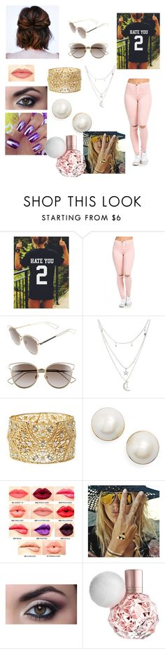 """""""Sophia's outfit for day in Sao Paulo, Brazil"""" by onedirectionforever1297 on Polyvore featuring Christian Dior, Charlotte Russe, Kate Spade, NYX and Flash Tattoos"""