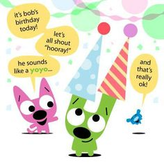 Party Hoops And Yoyo Happy Birthday Greeting Cards Brithday Birth