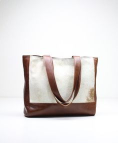 Classic Leather Tote Brown Leather Bag Leather Tote Bag by 14xbags