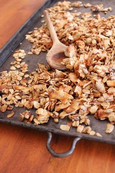 Saszali date and coconut muesli recipe on the blog. Muesli Recipe, Breakfast Dishes, Gluten Free Baking, Fruit Salad, Baked Goods, Waffles, Sweet Treats, Brunch, Dessert Recipes