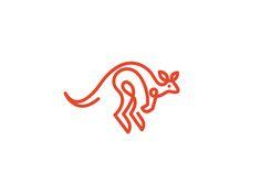 animal  design  icon  identity  illustration  line  logo  mark  symbol  kangaroo