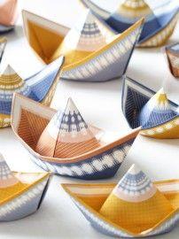 Fleet, paper wishboats by Jurianne Matter