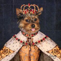 Custom Pet Portrait by CustomPetPrints on Etsy. Anthropomorphic digital dog art.