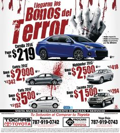 Anuncio para Tocars Toyota