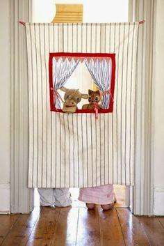 Entre elefantes: Se abre el telón:un guiñol en la habitación!. Deco...