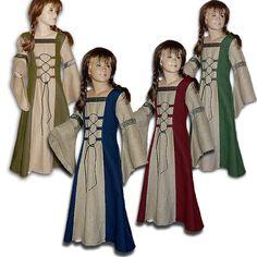 Mittelalter Kinderkleid Elisabeth Leinen