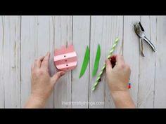 Pretty Paper Straw Tulip Craft | I Heart Crafty Things