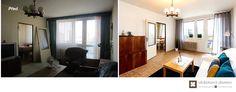 Home Staging částčně zařízeného panelového bytu v Praze Řepích, více info k tomuto projektu na http://ukazkovydomov.cz/2017/04/27/home-staging-castcne-zarizeneho-bytu-31-praha-repy/ #praha #prague #czech #homestaging #pred #po #before #after #white #walls #retro #pokoj #obyvaci #livingroom #panelak