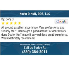 All around excellent experience. Very professional and friendly staff. Had to get a good...
